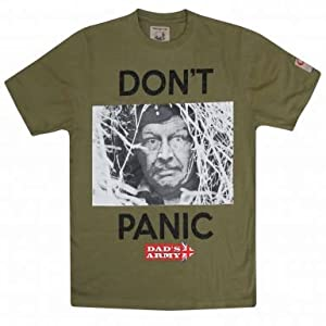 Amazon.com : Dad's Army Corporal Jones Don't Panic T-Shirt : Sports