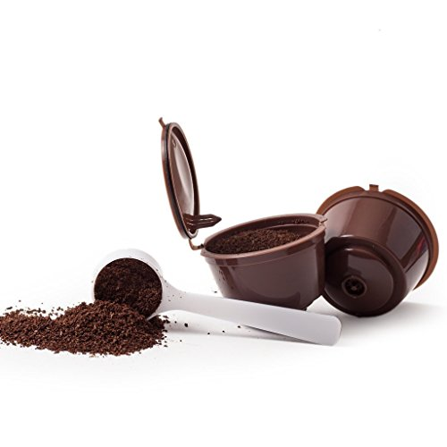 2 COFFEE CAPSULES FOR REUSABLE REFILLABLE DOLCE GUSTO + 1 SPOON