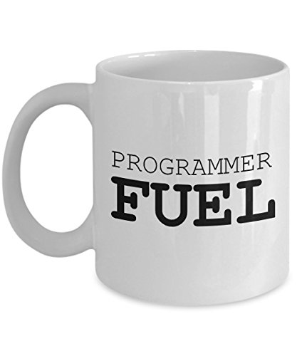 Funny Computer Coder Mug - Quality Ceramic Gift Coffee Cup - Programmer Fuel - Great Present for Boyfriend -White