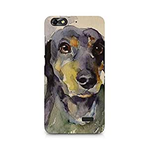MOBICTURE Dog Premium Designer Mobile Back Case Cover For Huawei Honor 4C