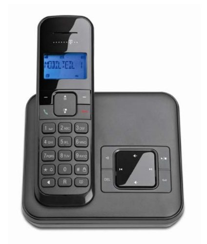 Telekom Sinus CA 33 - schnurloses Telefon mit Anrufbeantworter (Standard/Analog, AB, Full Eco Mode, 50 Telefonbucheintr&#228;ge)