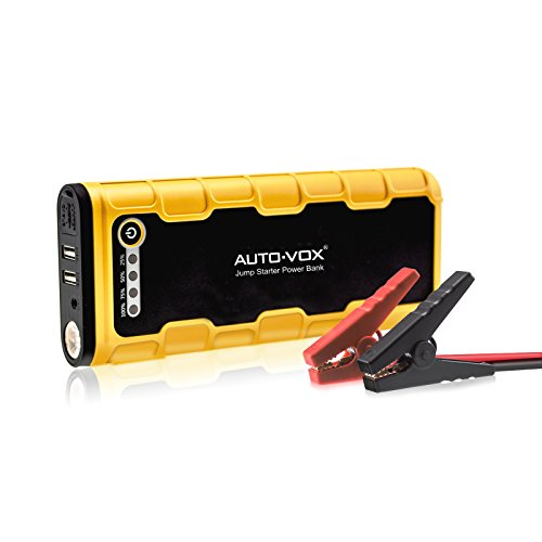 AUTO-VOX Portable Car Jump Starter P1 600A Peak 18000mAh (Up to 6.5L Gas and 7.5L Diesel Engine) Emergency Kit Battery Booster Power Bank with LED Lights & Multiple Slots Working Well with Compressor (900 Amp Lithium Jumper Pack compare prices)
