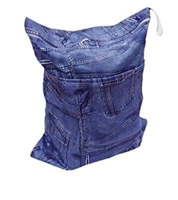 Print Baby Cloth Diaper Waterproof Zippered Wet/Dry Bags, Mazarine