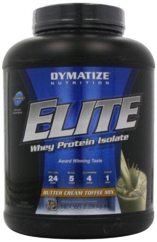 Dymatize Nutrition Elite Whey Protein Powder, Butter Cream Toffee Mix, 5.04 Pound