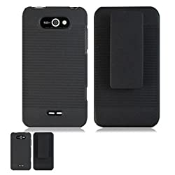 LG Motion 4G MS770 Black Hardcore Case Holster