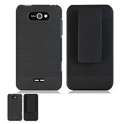 LG Motion 4G MS770 Black Hardcore Case Holster