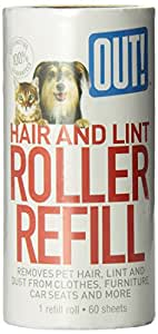 Out! 60-Sheet Hair and Lint Remover Refill