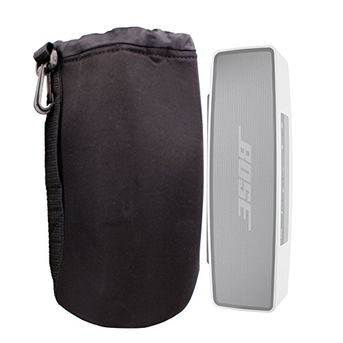 Duragadget Padded Black Pouch For Bose Soundlink Mini Bluetooth Speaker