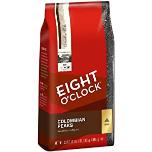 Eight O'Clock Colombian Peaks Ground Coffee, 33-Ounce Bag