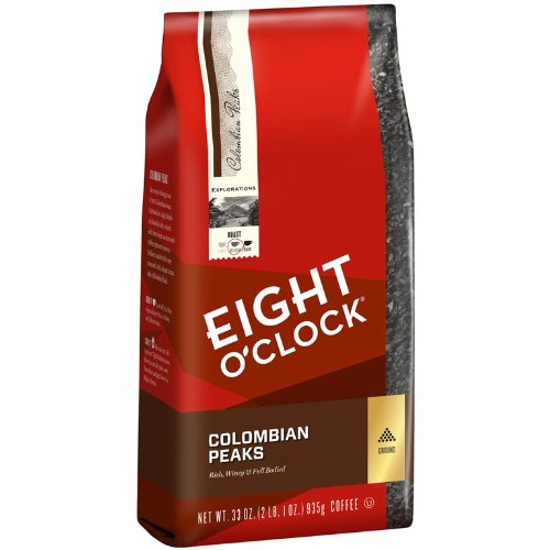 Eight O'Clock Colombian Peaks Ground Coffee,