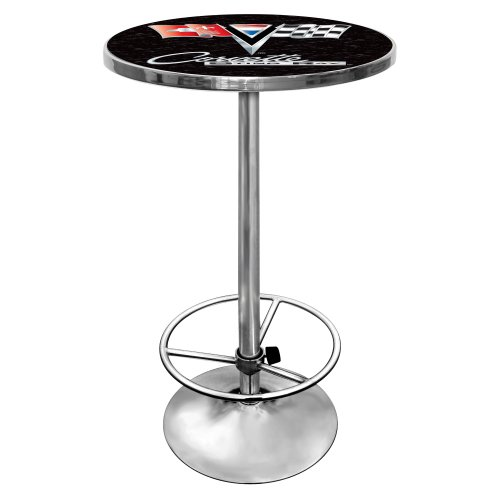 "Chevrolet Corvette ""Sting Ray"" Chrome Pub Table"