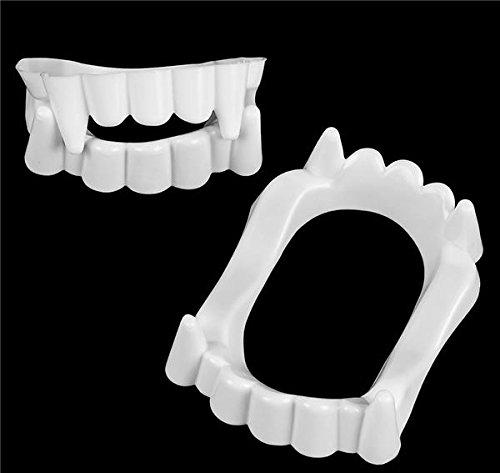 [GIFTEXPRESS Pack of 144, White Plastic vampire Fangs / Vampire Teeth / Dracula Fangs/ Halloween Costume Accessories / Halloween Tricks/Vampire] (Dracula Teeth)