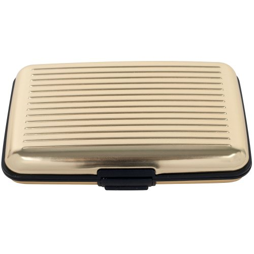 Card Guard Card-Guard 82-9860 Aluminum Credit Card Wallet - RFID Blocking Case, Gold at Sears.com