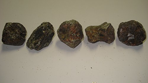 (#5) 5Pc Garnet From Russia Large Raw Rough 100% Natural Crystal Gemstone Specimen