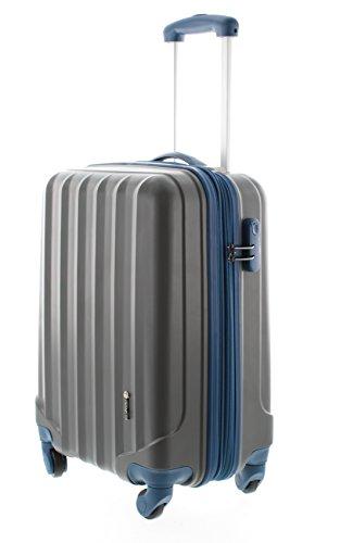 100-ABS-Hartschalen-Koffer-Trolley-mit-4-Rollen-und-Zahlenschloss-3-Farben-Pianeta-Serie-Ibiza-M-55cm-Anthrazit