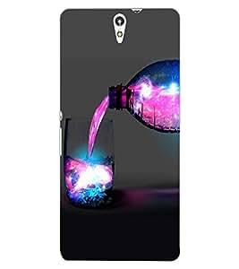 ColourCraft Glass and Bottle Design Back Case Cover for SONY XPERIA C5 E5553 / E5506