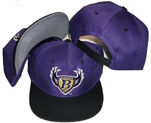 Baltimore Ravens Two Tone Plastic Snapback Adjustable Snap Back Hat Cap by Logo 7