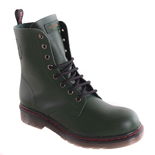 Diesel donna stivaletti stivali stivaletti in vera pelle verde #75, Verde (verde), 41