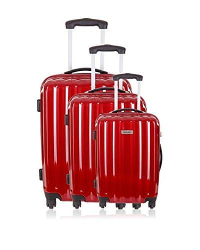 Travel ONE 3er Set Hartschalen Trolley Altamura bordeaux