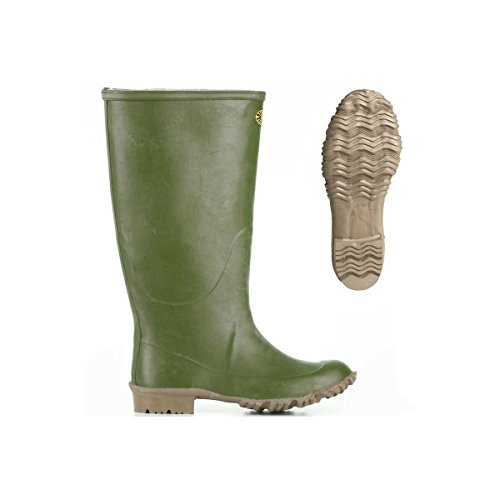 Stivali in gomma - 7266-ginocchio Padus - Olive - 43
