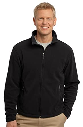 Port Authority Men's Soft Fleece Warm Jacket, Black, XXXX-Large