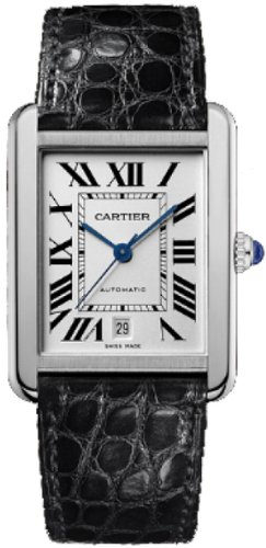 NEW CARTIER TANK SOLO MENS STEEL WATCH W5200027