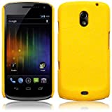 SAMSUNG GALAXY NEXUS YELLOW TEXTURED PU LEATHER ONE-PIECE SNAP CASE / COVER / SHELL / SHIELD PART OF THE QUBITS ACCESSORIES RANGEby Qubits