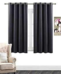 AmazonCurtains Room Darkening Thermal Insulated Solid Grommets Curtain/Drape (W 52\