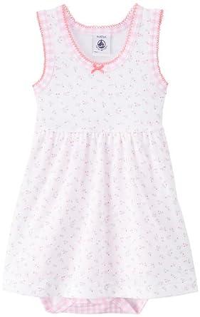 Petit Bateau - Body - Bébé fille 0-24m - Multicolore (Ecume/Charles/Multico) - FR: 18 mois (Taille fabricant: 18 mois)