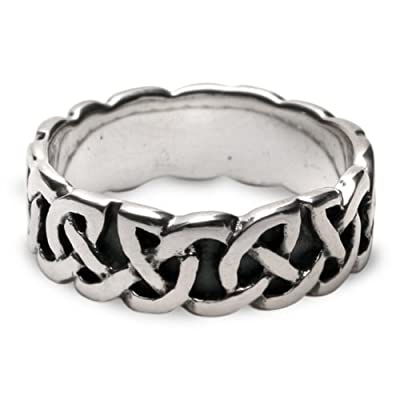 Damara Sterling Silver Celtic Wedding Ring