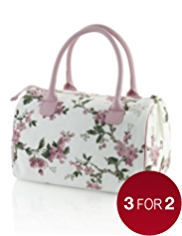 Floral Collection Vintage Inspired Weekend Cosmetic Bag
