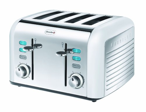 Breville Opula Collection VTT334 Stainless Steel 4 Slice Toaster, Opal White from Breville