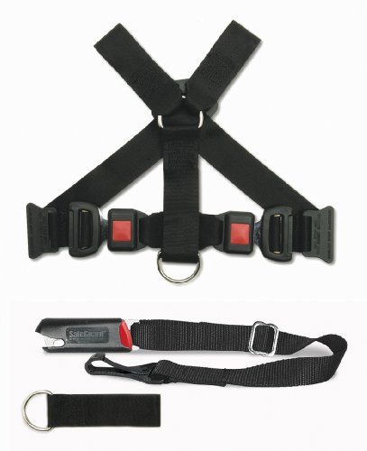 PetBuckle Universal Pet Seat Belt Complete Travel Kit, Includes Harness and Tether, Fits Pets 20-Pounds and More