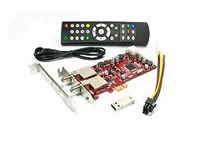 DVBSky S952 V3 PCIe Karte (Low Profile) mit 2x DVB-S2 Tuner (Dual Twin Tuner), keine CD stattdessen partitionierter USB Stick mit Windows Software inklusive bootfähigem Linux Media Center