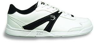 BSI Men's #540 Bowling Shoes, White/Black, Size 11.0