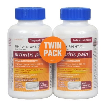 Member&#039;s Mark - Arthritis Pain Reliever, Extended Release, Acetaminophen 650 mg, 400 Caplets