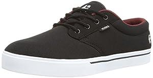 Etnies Men's Jameson 2 Eco Skateboard Shoe, Black/White/Burgundy, 8.5 M US