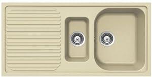 Cream Sinks For The Kitchen : ... COLORADO CREAM 1.5 INSET KITCHEN SINK: Amazon.co.uk: Kitchen & Home