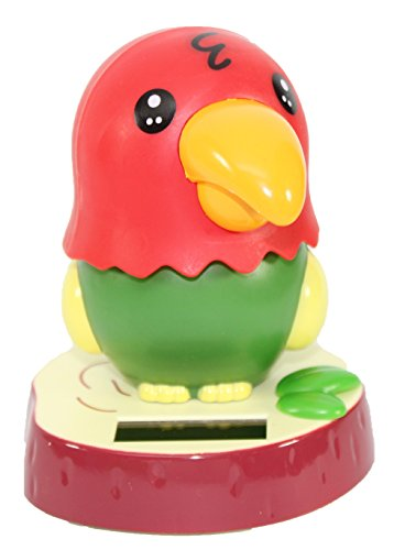 Dancing Parrot Bird Solar Toy Car Dashboard Desk Home Decor Birthday Holiday Valentine's Day Gift US Seller