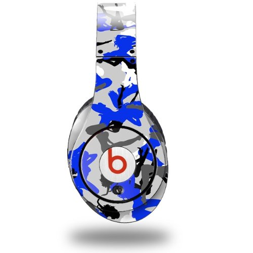 Sexy Girl Silhouette Camo Blue Decal Style Skin (Fits Original Beats Studio Headphones - Headphones Not Included)