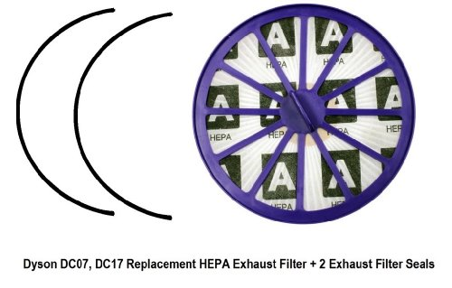 Dyson Dc07 / Dc14 Lifetime Hepa Post Motor Exhaust Filter, Purple, Fits Dyson Part 901420-02, And (2) 908682-01. With 2 Free Gasket Seals!