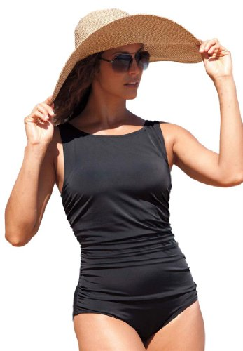 Jessica London Womens Boatneck Maillot