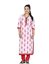 Chhipa Women Hand Work 100% Cotton White Kurta