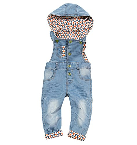 Kidscool Baby Denim Light Blue Soft Cute Overalls with Hat (Baby Dress Light Blue compare prices)