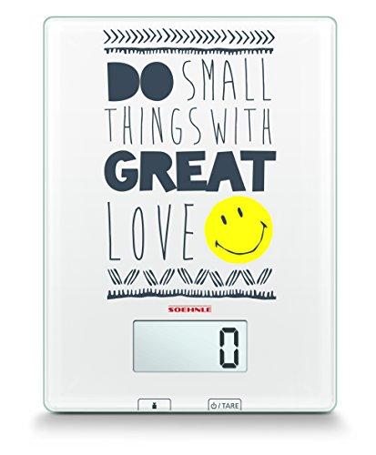 Sohnle 0866299 Do Small Thing Balance Electronique Verre de Sécurité Blanc 7 kg/1 g