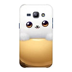 Enticing Cutest Fluffy Kitty Back Case Cover for Galaxy J1