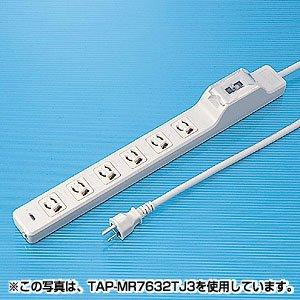 SANWA SUPPLY アウトレット TAP-MR7634TJ1 15A漏電ブレーカータップ 箱にキズ、汚れのあるアウトレット品です。