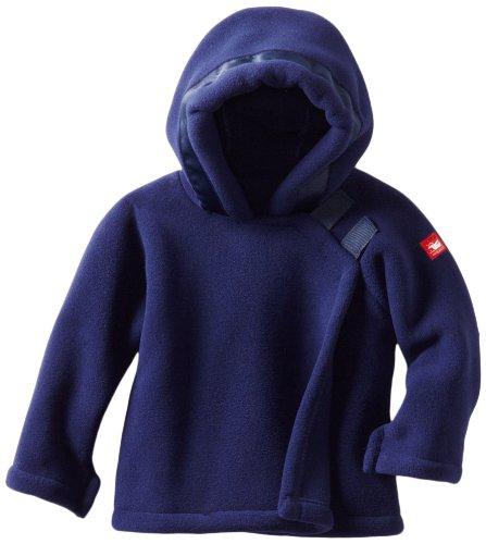 Widgeon Unisex Baby Fleece Wrap Jacket, Navy, 18 Months