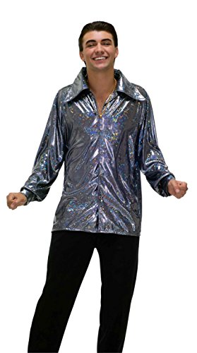 Forum Novelties Men's Plus-Size 70's Disco Fever Funkadelic Costume Shirt