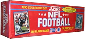 1990 Score Football Cards Factory Set [Toy] by SCORE